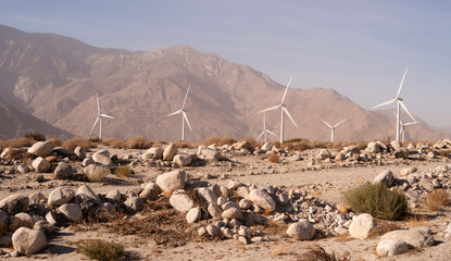 Clean Green Energy Wind Turbines Alternative Desert Power