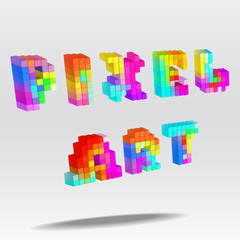 pixel art text