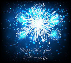 happy new year background black and blue