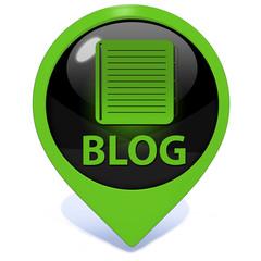 Blog pointer icon on white background