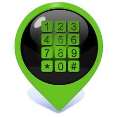 calls pointer icon on white background