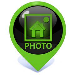 photo pointer icon on white background