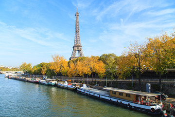 A cityscape of Paris with Eiffel Tower, Paris, France