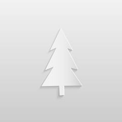 Paper Christmas Tree Illustration
