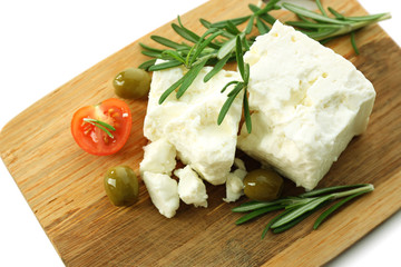Feta cheese close-up