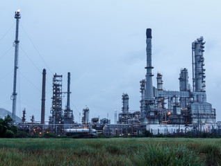 Oil Refinery in daytime
