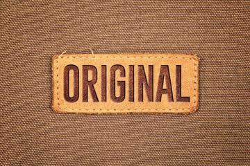 Original Leather Label Tag