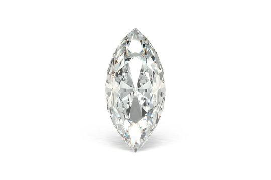 Diamond, White Background