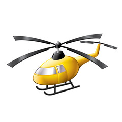 Helicopter isolated on white vector