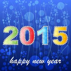 2015 year greeting card design version
