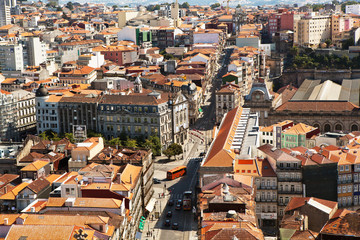 The roofs of Porto, Portugal.