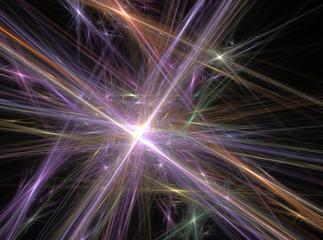 Violet abstract lines fractal effect light background