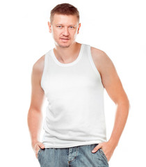t-shirt on a  man