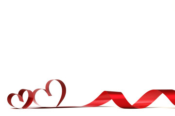 Ribbon hearts frame
