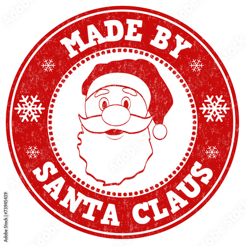 Quot Made By Santa Claus Stamp Quot Stock Image And Royalty Free