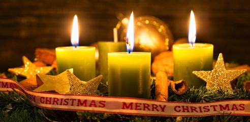 3 Advent Kerzen Adventskranz