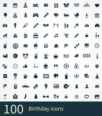 100 birthday icon