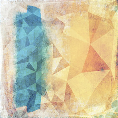 Abstract grunge geometric background