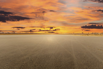 El Mirage Dry Lake Sunset