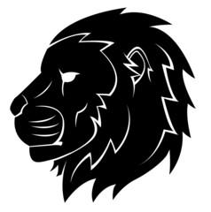 Lion Head Tattoo Illustration