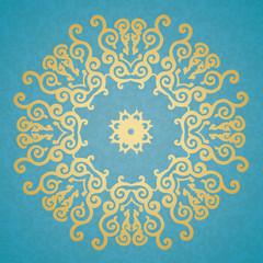 Decorative elements. Blue background.