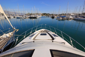 Printed roller blinds Water Motor sports view from Super Yacht
