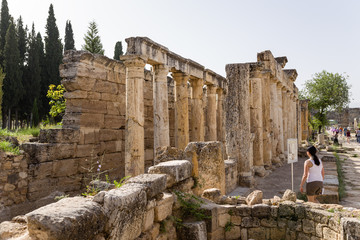 Hierapolis, Turkey. Latrines (public toilet)