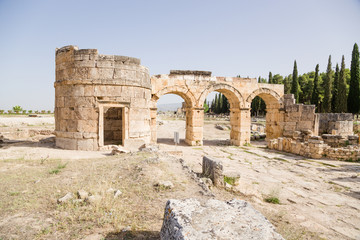 Hierapolis. Domitian Gate, view from the city, 86-87 years AD