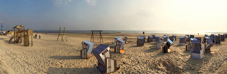 Wall Mural - Norderney Panorama am Strand