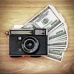 Vintage Camera on the Money