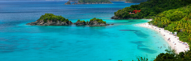 Fototapete - Trunk bay on St John island, US Virgin Islands
