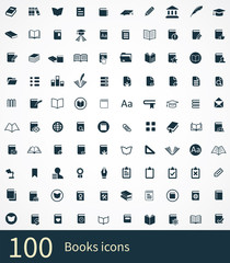 100 books icon