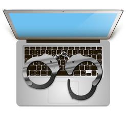 laptop handcuffs