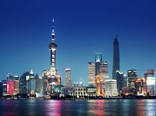 Fotomurales - Shanghai at night, China