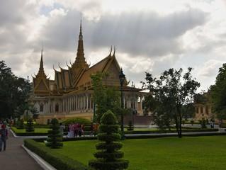 Royal palace in Phnom Penh Cambodia