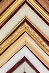 Hanging sample frame corner for showing customer