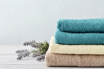 Stack of bath towels