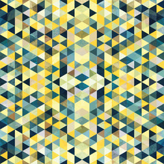 Triangular Mosaic Colorful Background. Abstract Rasta DogŒ.