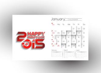 Creative New Year Calendar 2015 Background
