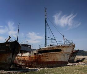 Epaves de langoustiers - Port de Camaret-sur-Mer.