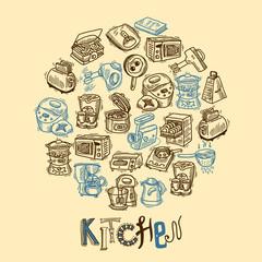 Kitchen equipment sketch
