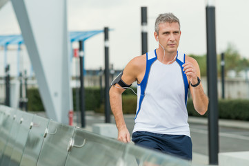 Man Running In A Urban Place