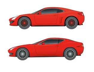 Sportwagen,rot, markenneutral