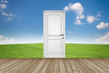 Door standing in Landscape