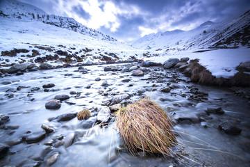 Beautiful alpine winter landscape