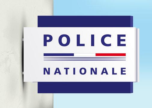 Police Nationale - Panneau