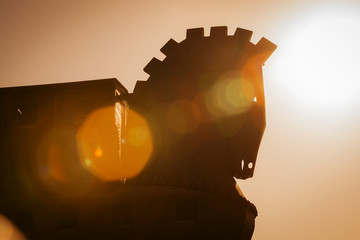 Trojan Horse Structure at Troy in Turkey