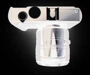 3d illustration of photographic camera