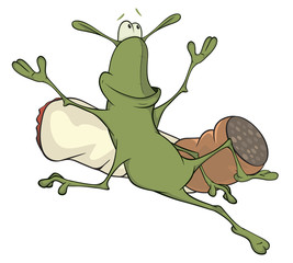 A cockroach and a cigarette cartoon