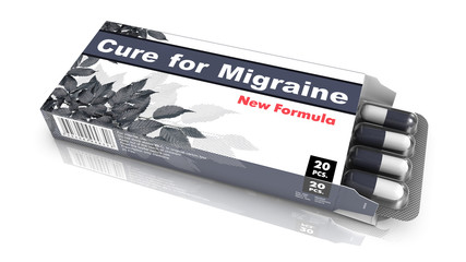 Cure For Migraine, Gray Open Blister Pack.